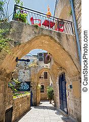 the old port city of Jaffa in Tel Aviv