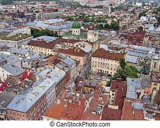Old city. Lvov. The western Ukraine.