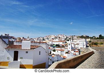 Old city of Elvas, Alentejo, Portugal.
