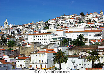 Old city of Elvas, south of Portugal.