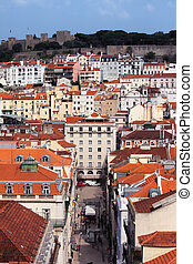 Old City of Lisbon in Portugal
