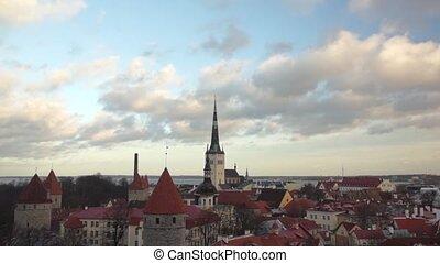 old city panorama of Tallinn, Estonia