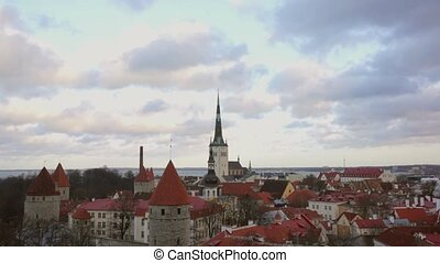 old city panorama of Tallinn, Estonia - Tallinn, Estonia old...