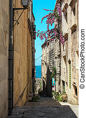 Old city streets - old city streets in Croatia