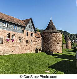 old city wall in Buedingen