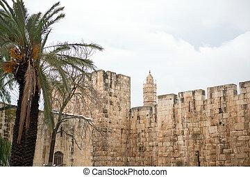 Old City wall in Jerusalem