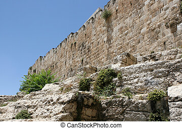 Old City Wall of Jerusalem, Israel