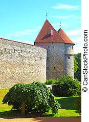 Old city walls of Tallin