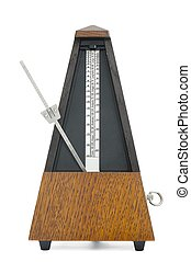Old Classic Metronome - Classic metronome isolated on white ...