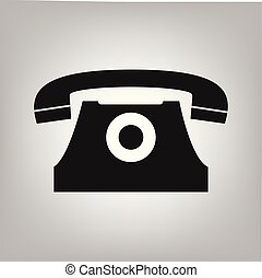 Old classic phone icon vector symbol for graphic design, logo, web site, social media, mobile app, ui illustration