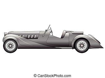 Old classic race car