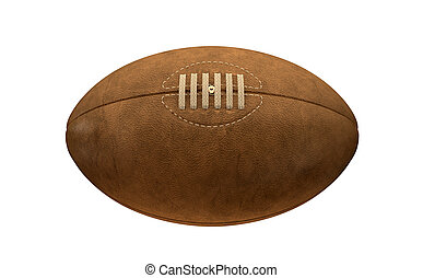 Old Classic Retro Rugby Ball - An old classic leather rugby...