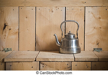 Old classic teapot - Old classic and vintage teapot on...