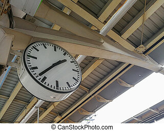 Old clock at a train station