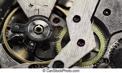 old clock gear mechanism - old clock gear steel mechanism....