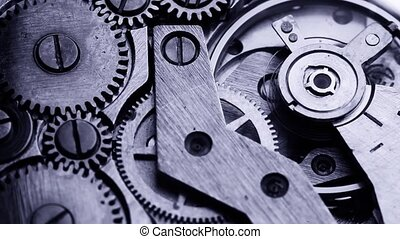 old clock gear mechanism - old clock gear steel mechanism.