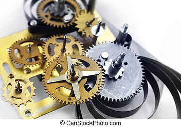 Old clock mechanism