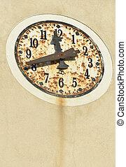 old clock, Oia Santorini