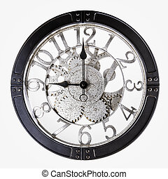 Old Clock on a white background