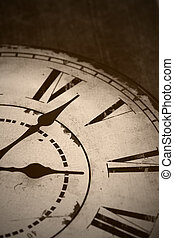 old clock - picture of an old and vintage clock