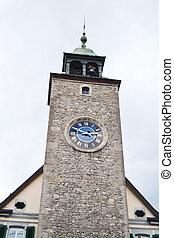 Old Clock Tower in Vevey, Switzerland