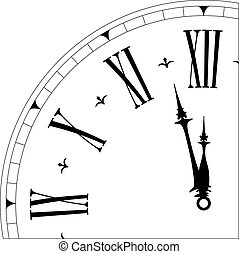 old clock04 - detailed illustration of an old clock face ...