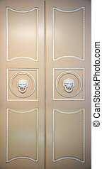 old closed ornate doors