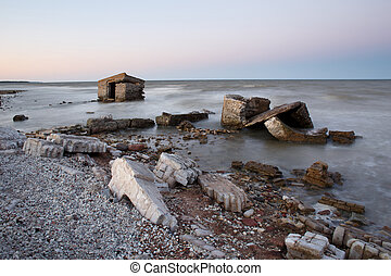 Old coastal ruins in Saaremaa, Estonia