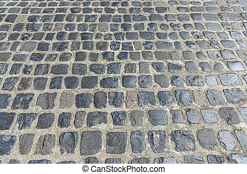 old cobble stone background of an old historic street