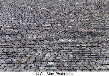 Old cobbled road surface in Timisoara