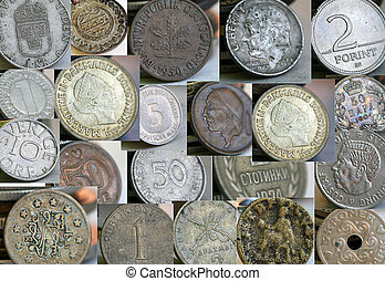 Old coins collage