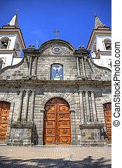 Old Colonial church facade