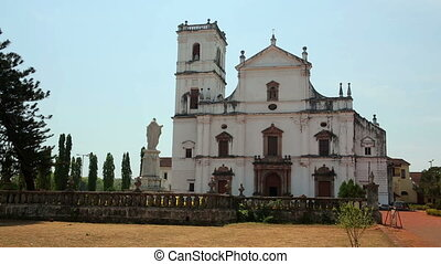 Old colonial church - Church in 17th century colonial...