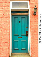 Old Colonial door in Frederick, Maryland - Old colorful...