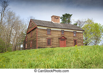 Old Concord colonial home dating from the american revolution