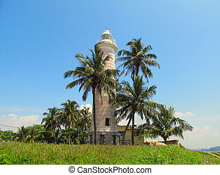 Old colonial lighthouse in Fort Galle, Sri-Lanka