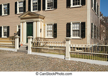 Old colonial new england home