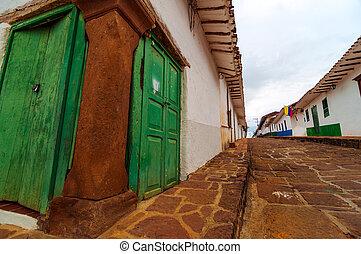 Old Colonial Street Corner