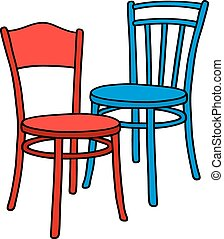 Old color chairs