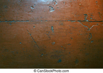 old colored, crumpled wooden floor