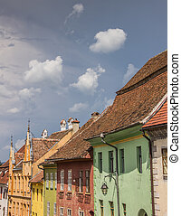 Old colorful houses in the center of Sighisoara