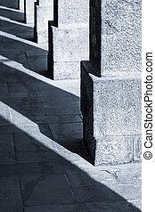 old columns of granite