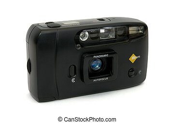 Old compact film camera