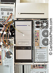 old computers and computer accessories for electronic recycling