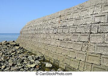 old concrete blocks