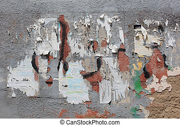 Old concrete wall with remaining of