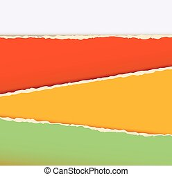 Old construction paper with ragged edge. Torn paper. Vector ...