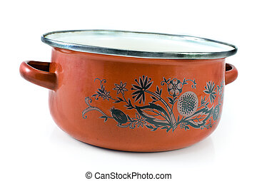Old cooking pot