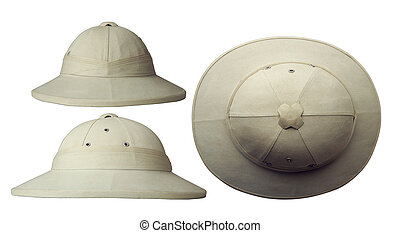 70eacc8bf80e3 classic cork tropical colonial helmet in three projections isolated on white  background