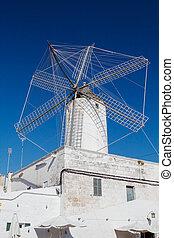 Old corn mill in Ciutadella, Menorca, Spain.